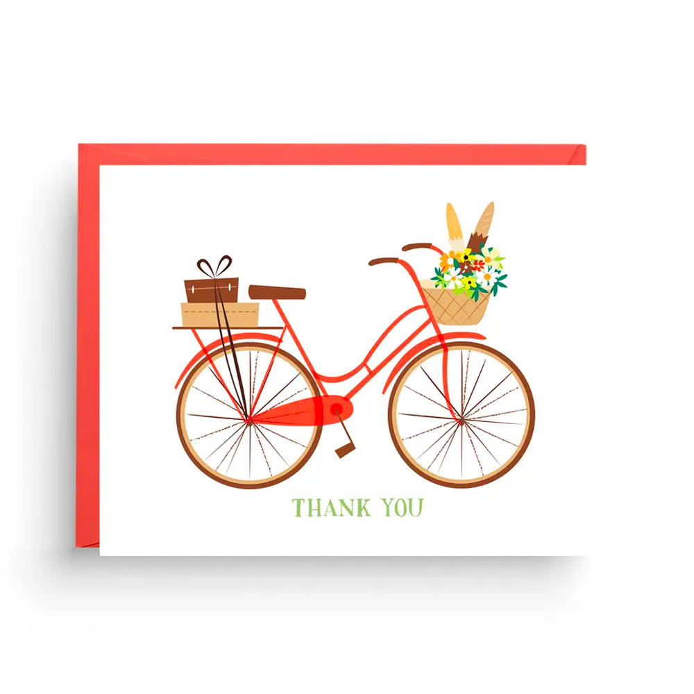 Vintage Bicycle Thank You Cards- Boxed Set of 6