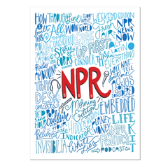 NPR Podcast Collage Postcard