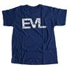 Navy Blue Shirt with White EVL Logo