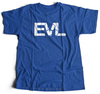 Royal Blue Shirt With White EVL Logo