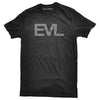 Black EVL T-Shirt with Gray Logo