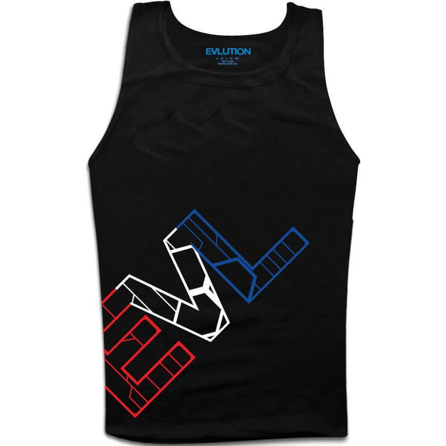 EVL USA Black Tank Top