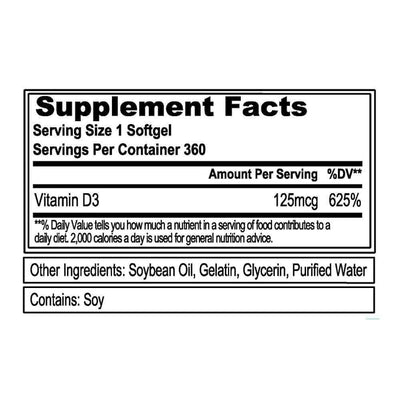 Vitamin D3 (120 Servings) (Softgels)