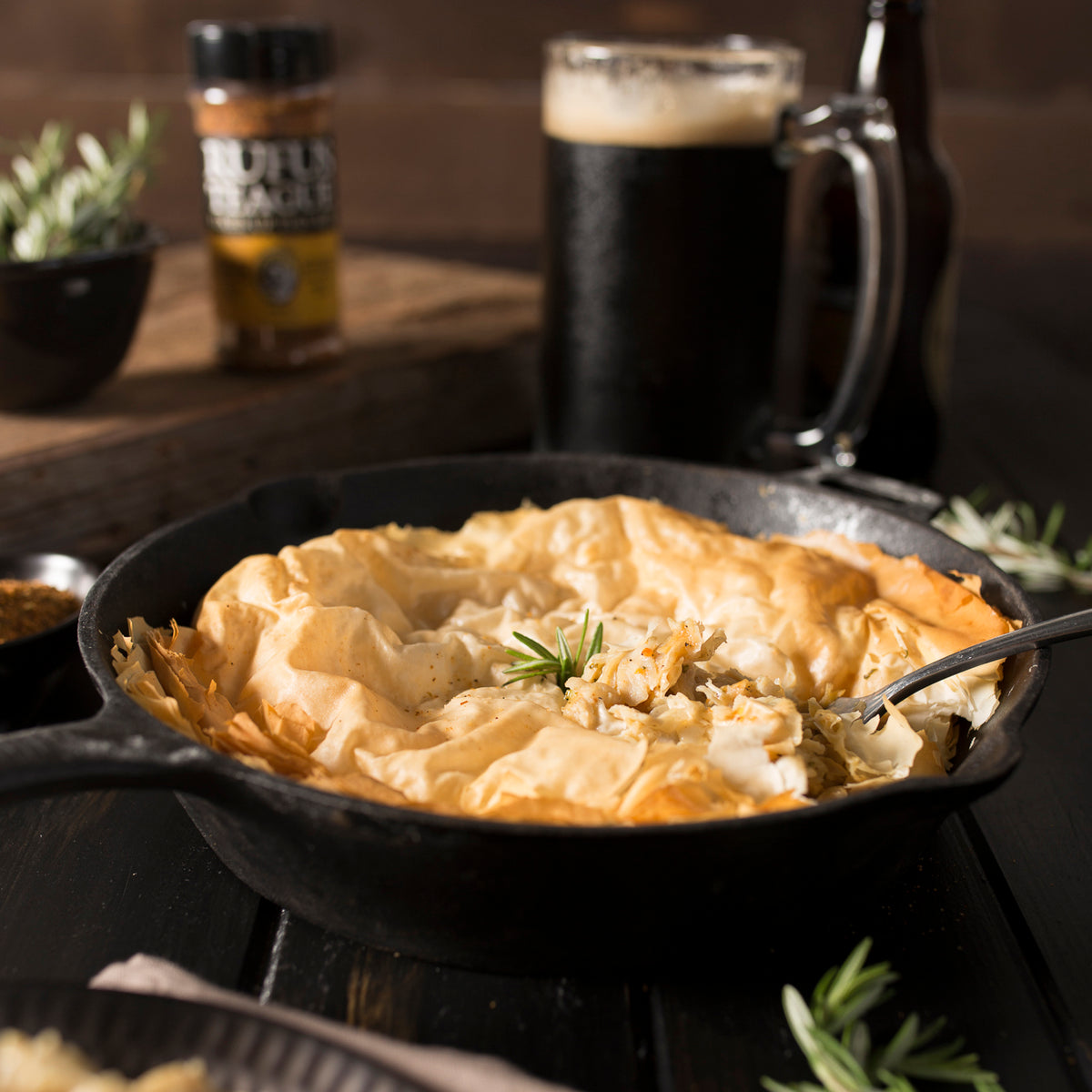 Cast Iron Chick N' Pot Pie