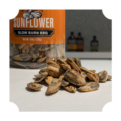 "SUNFLOWER SEEDS - ""SLOW BURN BBQ"" BOTTLE"