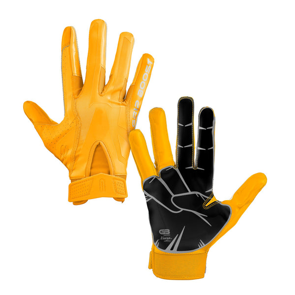 Grip Boost Yellow Peace Football Gloves - Adult Sizes - $44.95