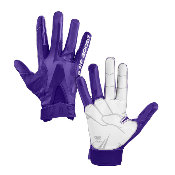 Grip Boost Boys Purple Peace Youth Football Gloves Pro Elite - Youth Kids Sizes - $44.95