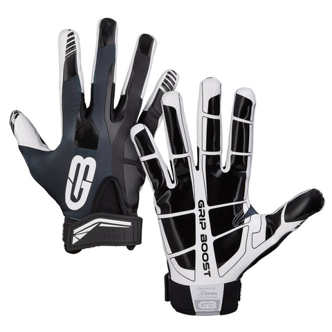 Youth Football Gloves - #1 Grip in Football Grip Boost Stealth Kids Football Gloves Pro Elite Youth Sizes - $29.95