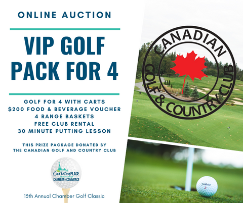 Canadian VIP Golf Day for 4