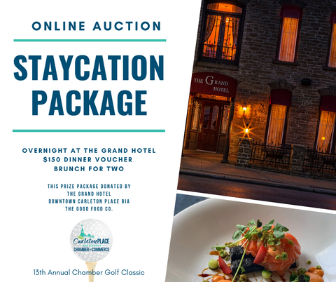 Carleton Place Staycation Package