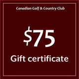 Canadian Golf & Country Club Gift Certificates