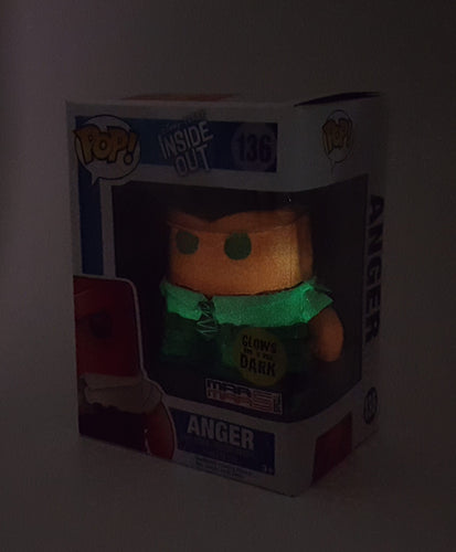 ANGER DISNEY INSIDE OUT MOVIE FUNKO POP CUSTOM GLOW IN THE DARK - MARMARSTOYS