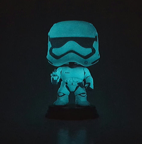 FIRST ORDER STORMTROOPER DISNEY STAR WARS THE FORCE AWAKENS POP 66 GLOW IN THE DARK