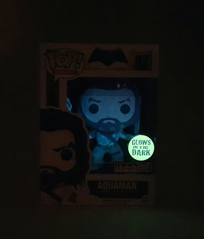 AQUAMAN BATMAN VS SUPERMAN DAWN OF JUSTICE POP 87 FIGURE GLOW IN THE DARK