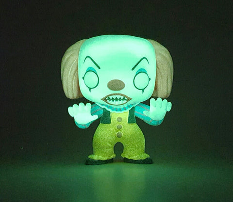 PENNYWISE IT THE MOVIE FUNKO POP 55 GLOW IN THE DARK CUSTOM