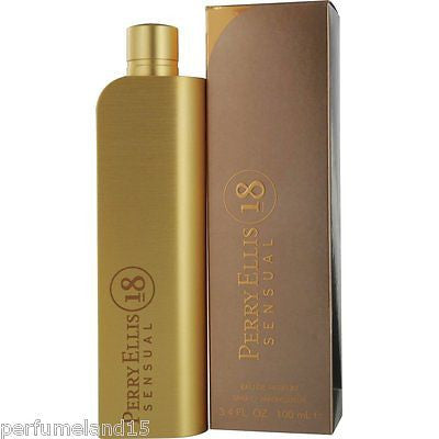 18 Sensual By Perry Ellis for Women 3.3 / 3.4 oz EDP Perfume NEW IN BOX