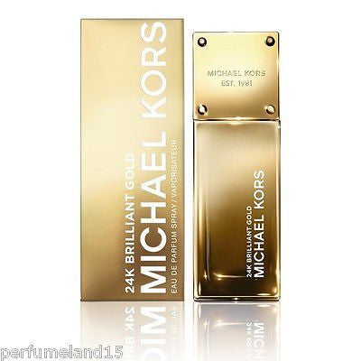 24K BRILLIANT GOLD MICHAEL KORS 3.4 EDP SPRAY EAU DE PARFUM WOMEN NEW RETAIL BOX