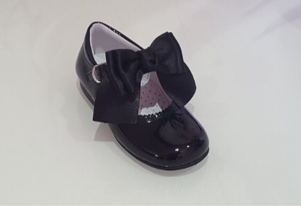 Chantelle Double Bow Navy Mary Janes