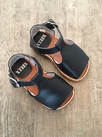 Boys Leather Navy Sandals