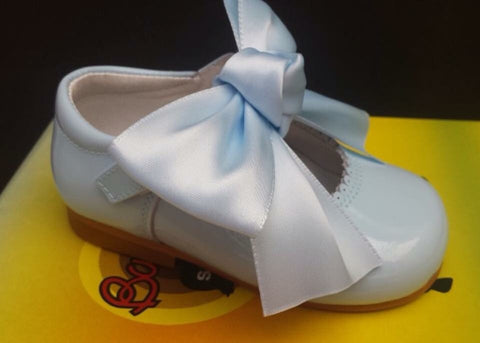 Bambi Julieta Baby Blue Bow Mary Janes