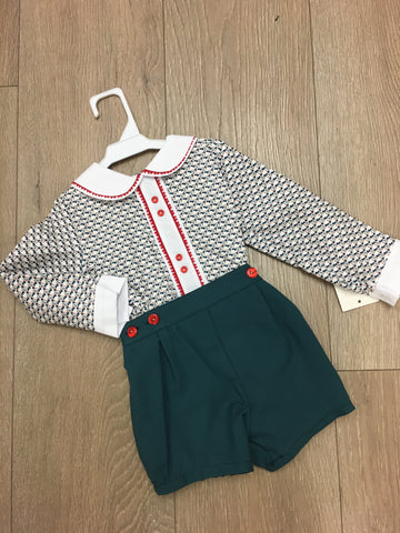 Green Dot Short Set