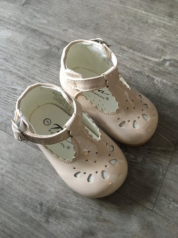 Beige TIA T-Bar Shoes
