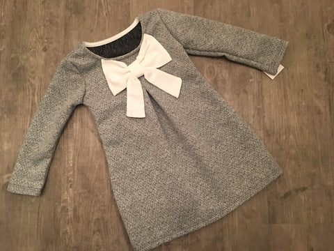 Grey Bow Dress