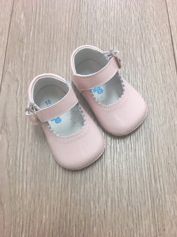 Citos Pink Patent Leather Pram Shoes