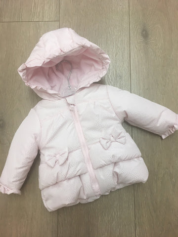 Baby Pink Coat with Silver Dots