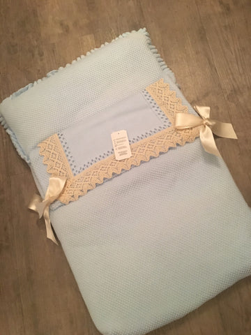 Blue & Camel Bow Baby Nest