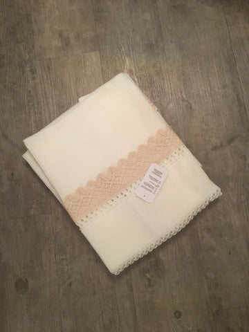 Cream & Camel Baby Blanket