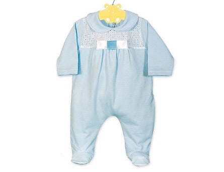 Blue Bow Sleepsuit