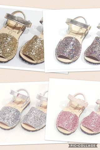 Children's Glitter Sandals - Pre-Order