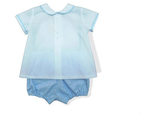 Blue Heart Pants Jam Set