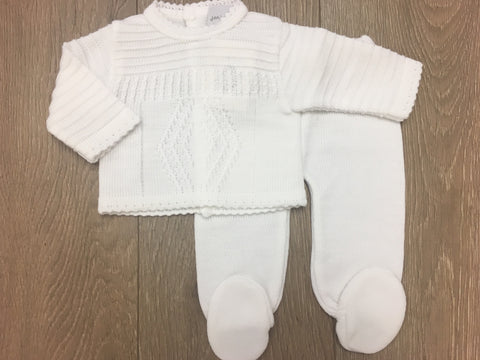 White Diamond Knitted Set