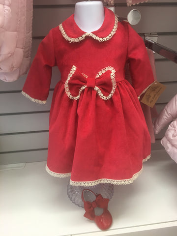 MYLA Red Bow Dress with Knickers