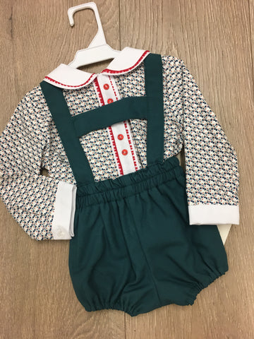 Green Dot H Bar Shirt Set