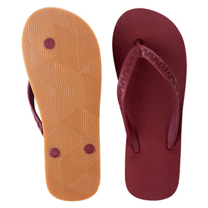 Men's GumSole Slippers (Li Hing Mui) Burgundy