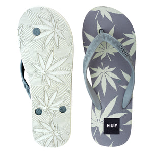 Men's Huf Plant Life Slippers (Grey/Light Grey)