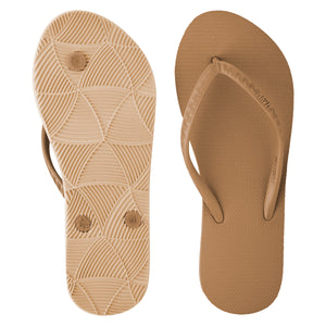 Women's Tonal Slippers (Macadamia) Tan