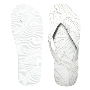 Men's Sig Zane Slippers (Uluwehi Keaukaha) White