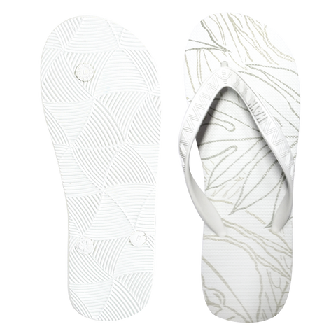Men's Sig Zane Slippers (Uluwehi Keaukaha) - White