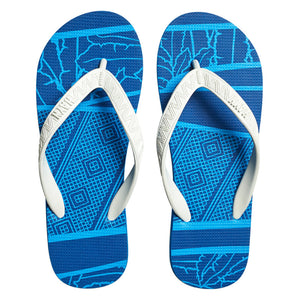 Men's Sig Zane Slippers (Uluwehi O Ke Kai) Blue