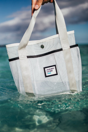 Sig on Smith x HAYN x ILA Swim Small Beach Bag - White/Black/Silver