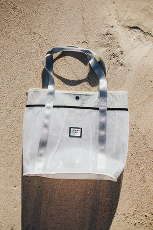 Sig on Smith x HAYN x ILA Swim Large Beach Bag - White/Black/Silver