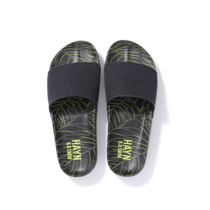 Sig on Smith x HAYN x ILA Swim Slides - Black/Neon Green