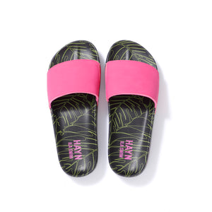 Sig on Smith x HAYN x ILA Swim Slides - Neon Pink/Black/Neon Green