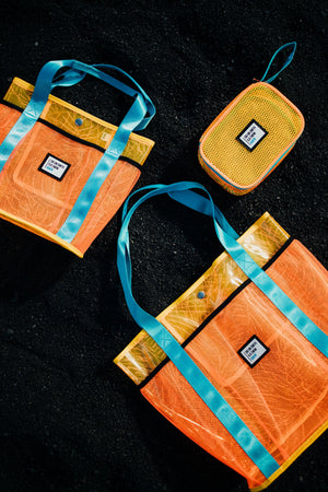 Sig on Smith x HAYN x ILA Swim Small Beach Bag - Orange/Teal/Yellow