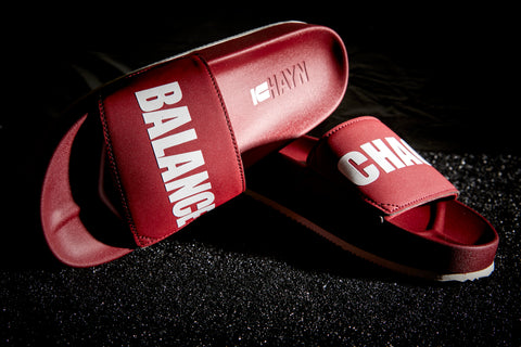 CHAOS/BALANCE Slides (UNDERCOVER X HAYN) Burgundy