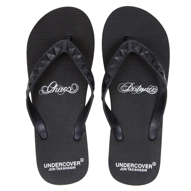 "Men's Undercover ""Chaos & Balance"" Slippers (Black)"
